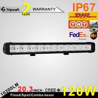 "120w 20"" car lights led slim IP67 led driving light bar 9-70V DC led offroad light bar single row"
