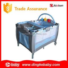plastic travel cot bed baby portable crib playpen,baby playpen made in china,portable baby play pen DKP2015269