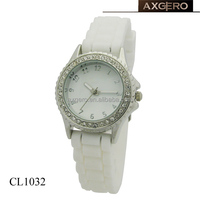 thin strap silicone promotional crystal ladies watches for small wrists