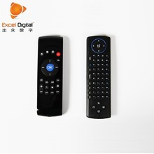 black simple keyboard C2 2.4G wireless Android box remote control charge by battery