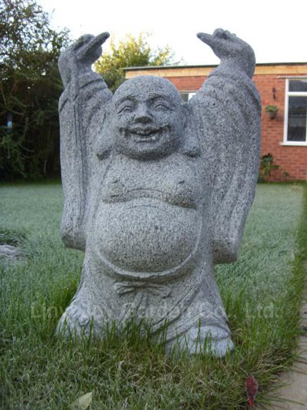 D coration de la maison bouddha statue de pierre statues for Statue jardin pas cher