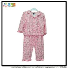 BKD suave de algodón niños del resorte pijamas