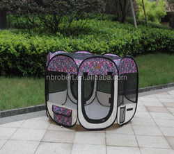 Printing fabric pet playpen/ folding dog playpen --RBPT1007