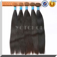 Qingdao yotchoi hair products high grade brazilian virgin weave hair