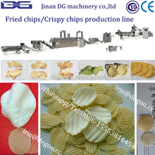 Potato waved chips pellet process line from Jinan DG machinery company