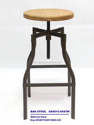 Wooden Bar Furniture , Bar Stool with Wooden Top