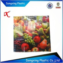 Square poly woven bag BOPP coated packing for fruits