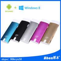 Low price 2015 newest fanless mini pc with ultra thin metal case and 2*USB+Serial+HD MI+VGA+Win 10, android4.4 OS,2g/32g