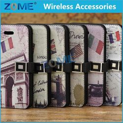 cheap full body mobile phone case For Samsung S4/i9500 diamond eiffel tower wallet leather case