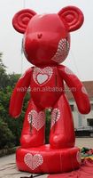 2015 new design 19ft/6m party inflatable rat/red/inflatable rat for party/rat replica/model/party decoration advertising W809