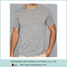 Mens top quality organic Peruvian cotton material mens round neck t shirts