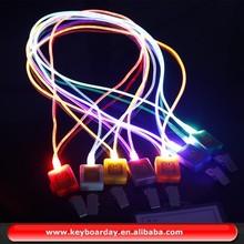 Poliéster colorido cordón led para regalo de la promoción/partido/regalo christams/de seguridad caminar de noche