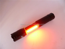 1W+3W cob warning aluminum new cob led flashlight with magnet