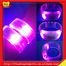 new concert glow in the dark bracelet light up motion activated led bracelet with remote controlled customied charm bracelet