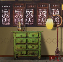 [MSD]Dining Room Furniture Chinese reproduction cabinet alter cabinet colorful sideboards painted colsole cabinet locker buffet