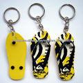 made in china promoção dom 3D macio pvc corrente chave de borracha /chinelo pvc keychain
