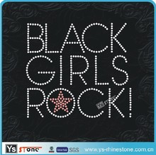 YSSTONE 12199 Wholesale Rock Girl rhinestone hotfix design