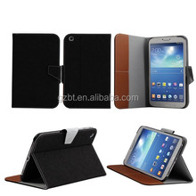 Book style high quality tablet leather cover for samsung Tab 3 8.0""