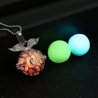Aqua Glow in the Dark Necklace Glowing Hollow Ball Pendant Gift for Girl Friend Mum