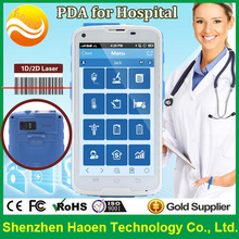 5 Inch Mobile Nursing Rugged Handheld for Hospital Use rubbing alcohol white Housing PDA Phones with NFC RFID 2D Barcode Scanner