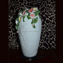 Well sculptured decoration patterned porcelain table lamp