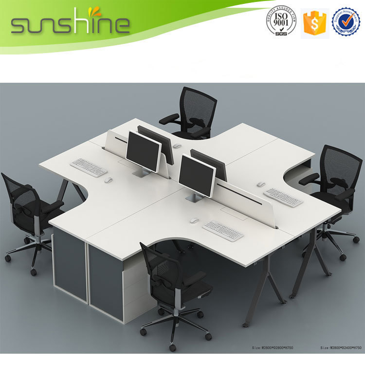 Modern office cubicles work station saving space office for Couch 6 personen
