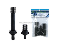 "Ebb Flow Bulkhead Kit w/ 2 Extensions Barbed 1/2"" 3/4"" Hydro Fitting Hydro Flow Ebb & Flow Fitting Kit"