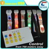 remote control ultralight ev1 chip RFID led silcione wristband/musical control rfid nylon LED wristband for music party