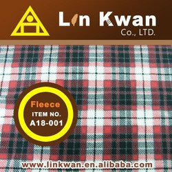 Taiwan LK A18-002 Check printed quick dry polyester fabric knitted fabric