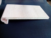 wooden stair tread cover/ stair nosing/ chipboard stair parts