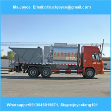 Sinotruck Howo Bitumen Crush Stone Paver Truck,Asphalt Penetration Macadam Chip Sealer For Sale