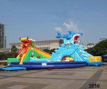 cheap price inflatable bouncer with slide
