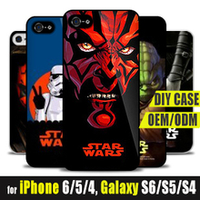 Custom Star Wars Soft Silicone Print Cover for iPhone 6s 6 Plus 5s Mobile Case Master Yoda Darth Vader Maul Stormtrooper