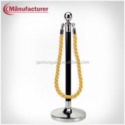 Pole Stanchion Rope Stand,Portable Post and Rope Crowd Control Line Stand