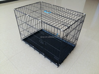 folding dog crate with divider special door lock