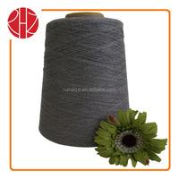 ring spun polyester/viscose rayon yarn 65/35 NE28/2 raw white or melange yarn