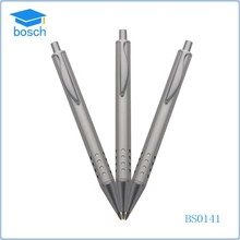 School student used simple metal pen ,metal grey push pen for promotion