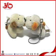 cheap mini plush dog keychain