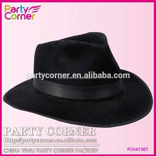 Party Accessories Black Velour Fedora With Band