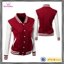 Stylish Raglan Sleeve High Quality Baseball Women's Jacket