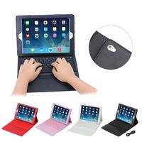 Bluetooth keyboard case for ipad air 2, Litchi design bluetooth keyboard leather cover case for iPad Air 2