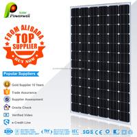 Powerwell Solar 300W Mono PV Module With CE/IEC/TUV/ISO/CEC/INMETRO Approval Standard 300w Solar Panel