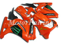 for kawasaki ex250 2009 250 ninja 250r fairing ninja ex250 ex 250 2008-2009 motorcycle 08-09 ninja 250r accessories orange black