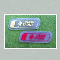 soft pvc label garment labels silicone label rubber label for clothing