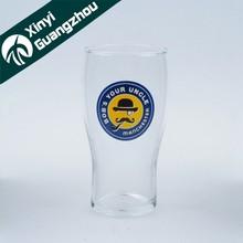 Wholesale braned cheap beer glass , OEM beer glassware , drinking beer cup