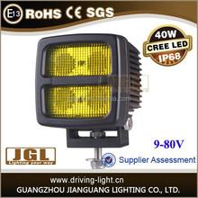 JGL Factory Price 40w led Offroad light 4x4 cree led work light bar auto 9-80v