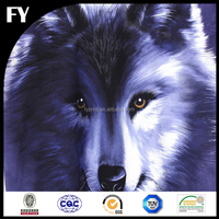 High quality custom printed cotton wolf print fabric