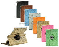 Ostrich Leather 360 Rotating Smart Cover Stand Case for iPad Air 5