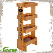 Customized Logo Wooden Shelves Racks
