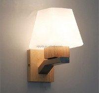 Japanese Korean staircase entrance hallway wall wood wall lamp bedroom bedside lamp